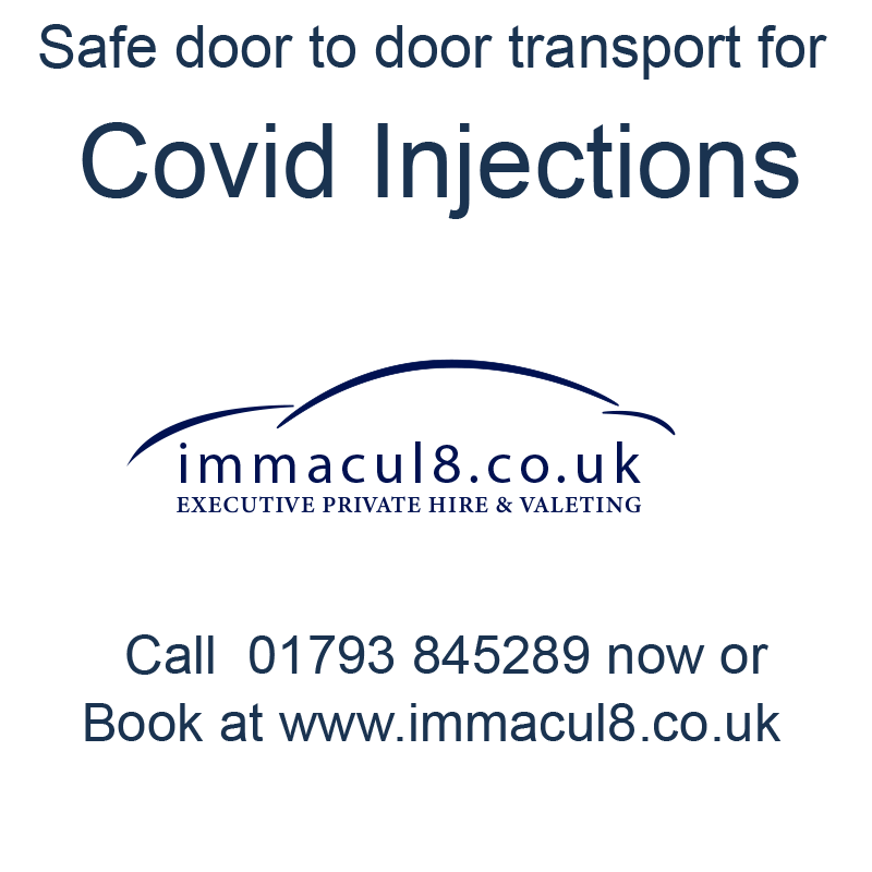 Covid injections vaccination transport Swindon Wiltshire