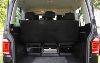 Spacious Minibus for Airport Transfers - view of boot space