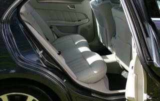 Inside photo of Mercedes private hire car