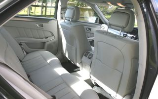 Interior of private hire car